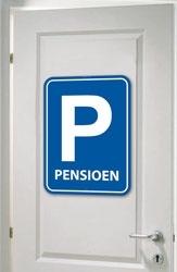 Deurbord Pensioen