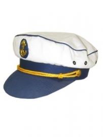 Kapiteinspet blauwe klep
