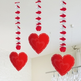 Hangdecoratie Hart/3stk