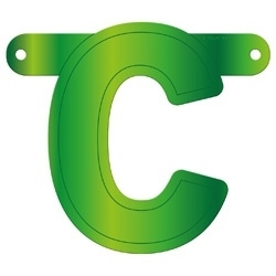 Banner Letter C Lime green