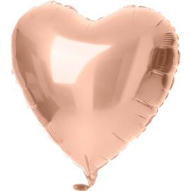 Folieballon hart rosé goud (45cm)