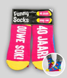 Funny socks - 40 jaar