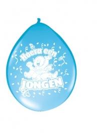 Ballonnen 8st. hoera een jongen