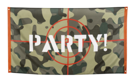 Vlag camouflage Party 90x150cm