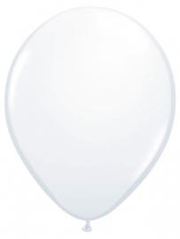 Ballonnen 10st. Wit metallic
