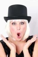 Hoge hoed zwart zeer luxe satijn