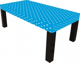 Tafelkleed stof blauw 120x180cm