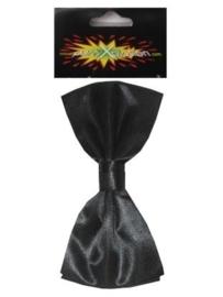 Strik charly satijn zwart 10x5 cm