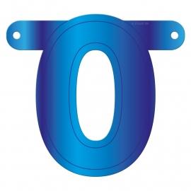 Banner Letter 0 Blue