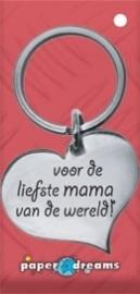 Hart sleutelhanger - mama