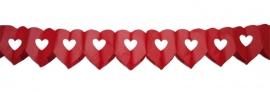 Slinger dubbel hart rood (BrV)
