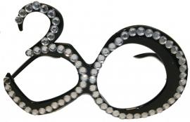 Bril 30 Jaar Zwart Diamantframe