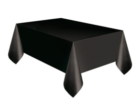 Tafelkleed plastic zwart 137x274cm