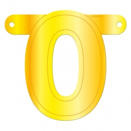 Banner Letter 0 Yellow