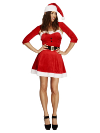 Fever Santa Babe Costume, Red mt.M
