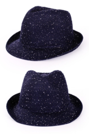 Saturday night fever glitter hoed d. blauw