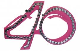 Bril 40 Jaar Roze Diamantframe
