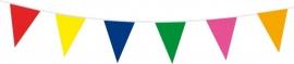 Vlaggenlijn assorti kleuren 10m
