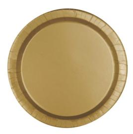 Borden 22 cm goud 8st.