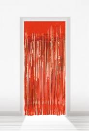 Deurgordijn folie rood lxb = 2x1m