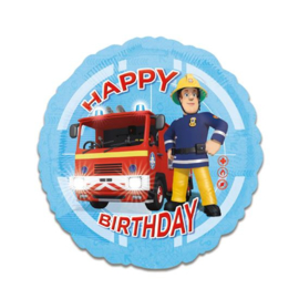 Folieballon brandweerman Sam HBD