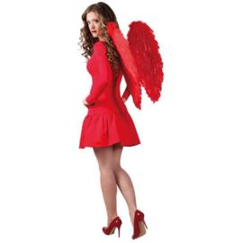 Engelen vleugels rood (65x65cm)