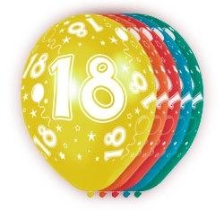 Ballonnen 5st. 18 jaar HE 30cm
