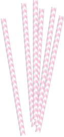 Rietjes roze/wit 20st.