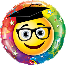 Folieballon Smiley graduate