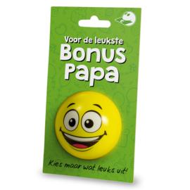 Cadeaukaarthouder stressball - Bonus papa