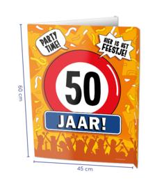 Window sign - 50 jaar