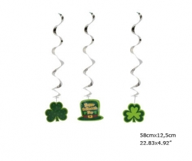 Happy St. Patrick's Day hangende decoratie 3st.