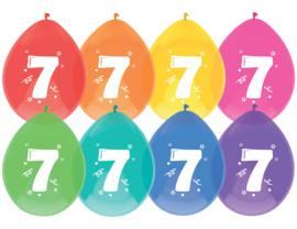 Ballonnen 8st. cijfer  7