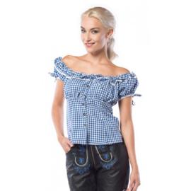 Blouse Liesl blauw/wit mt.40