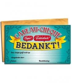 Gift cheque - Bedankt