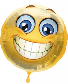 Folieballon Emoticon Smile verpakt