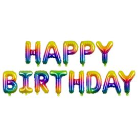 Ballonletters Happy Birthday rainbow (340x35cm)