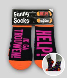 Funny socks - Help! Ik ga trouwen!