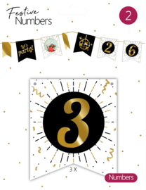 Festive Numbers 3 / 3st.