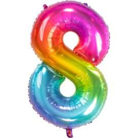 Folieballon 81cm rainbow 8