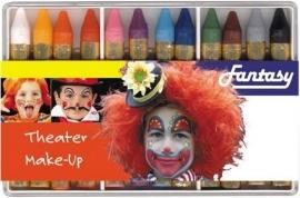 Make-up stiften doosje 12 kleuren