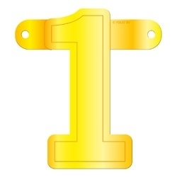 Banner Letter 1 Yellow