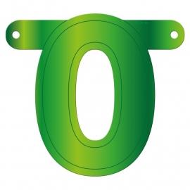 Banner Letter 0 Lime green