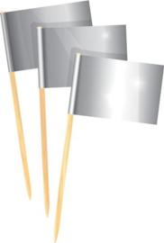 Cocktailprikkers zilver /50st.