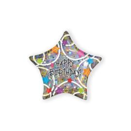 Folieballon Happy Birthday stars (45cm)