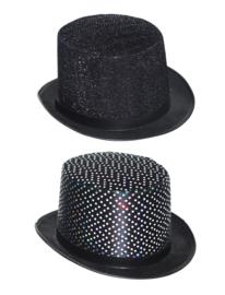 oge hoed lurex  zwart glitter (2 ass.)