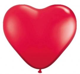 Ballonnen 8st. hartjes rood