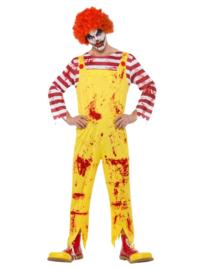 Clown Kreepy geel/rood mt. M