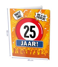 Window sign - 25 jaar