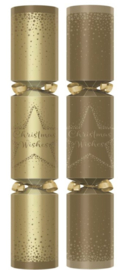 Christmas crackers 12 inch goud christ.wishes  p/s